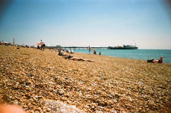 Brighton Beach shot on 35mm film using a lomography La Sardina camera