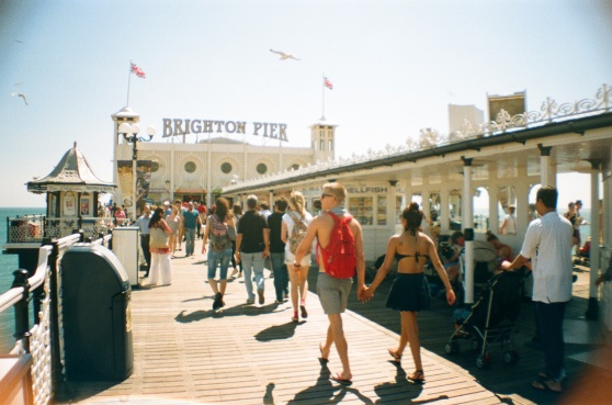 Brighton Pier shot on 35mm film using a lomography La Sardina camera