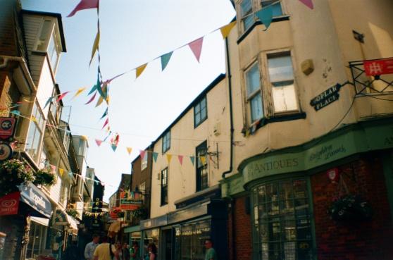 Brighton Lanes shot on 35mm film using a lomography La Sardina camera