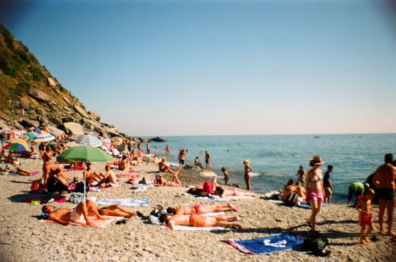 Vernazza, Cinque Terre, Italy shot on 35mm film using a lomography La Sardina camera