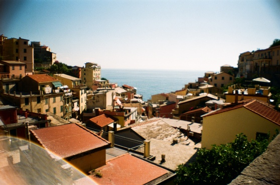 Riomaggiore, Cinque Terre, Italy shot on 35mm film using a lomography La Sardina camera
