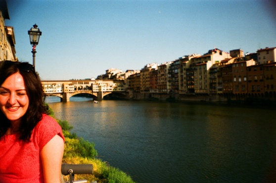 River Arno, Florence shot on 35mm film using a lomography La Sardina camera