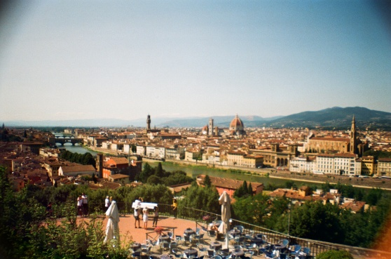Florence from Piazzale Michelangelo shot on 35mm film using a lomography La Sardina camera