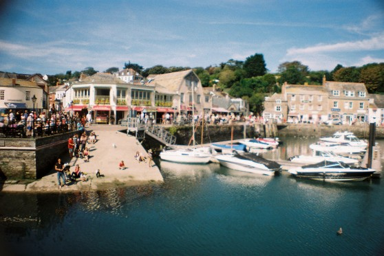 Padstow harbour shot on 35mm film using a La Sardina camera