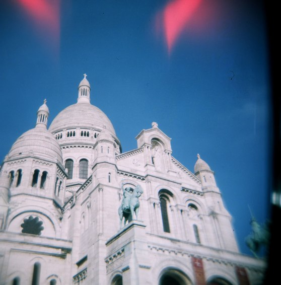 Sacre Coeur, Paris, France | Taken on a Holga 120N film camera