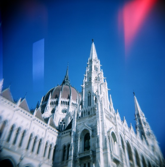 Budapest Parliament, taken with a Holga 120N on 120 colour film