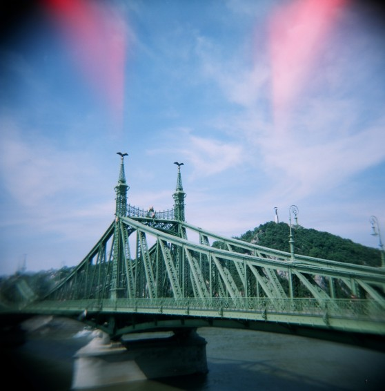 Liberty Bridge, Budapest—taken with a Holga 120N on 120 colour film