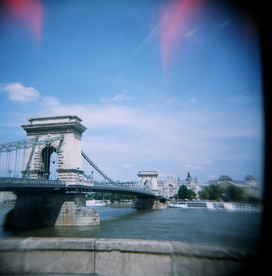 Chain Bridge, Budapest | Taken on a Holga 120N using 120 colour film