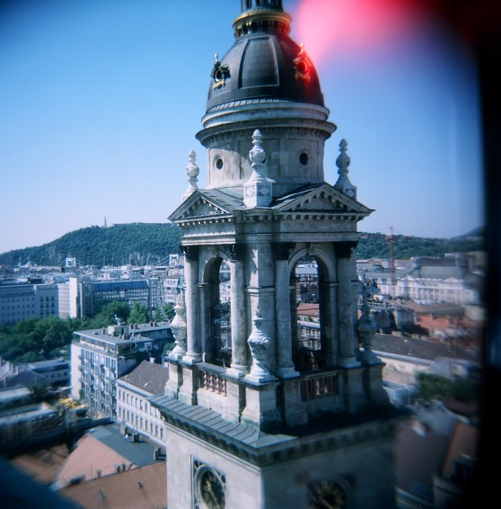 St. Stephen's Basilica, Budapest. Taken with a Holga 120N on 120 colour film.