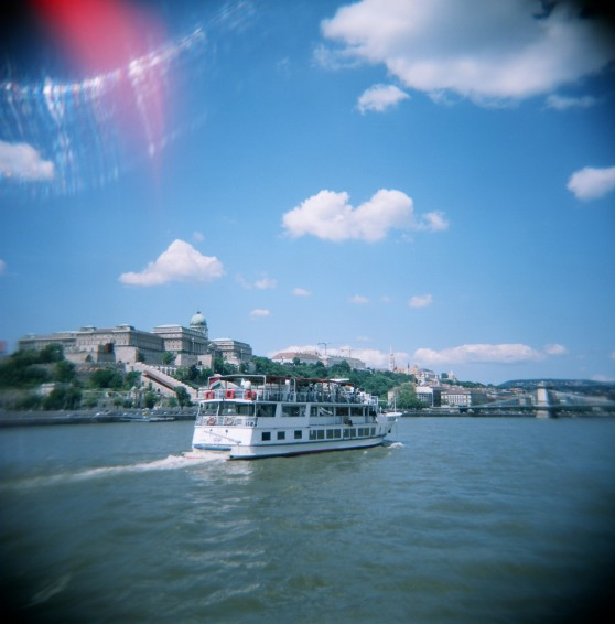 Boat tour in Budapest | River Danuba, taken on 120 colour film using a Holga 120N Lomography camera