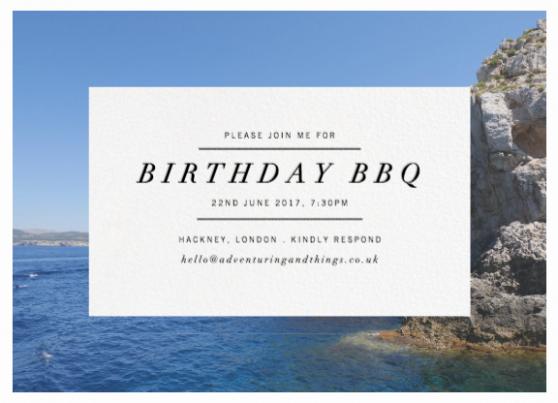 Paperless Post customisable digital invitations