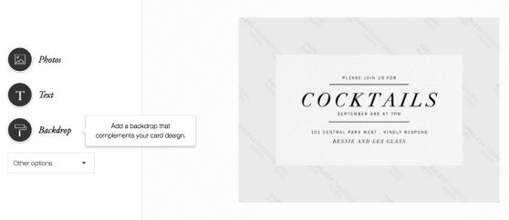 Custom photo invitations from Paperless Post